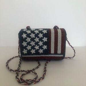 Patriotic Beaded Crossbody Mini Purse/Handbag